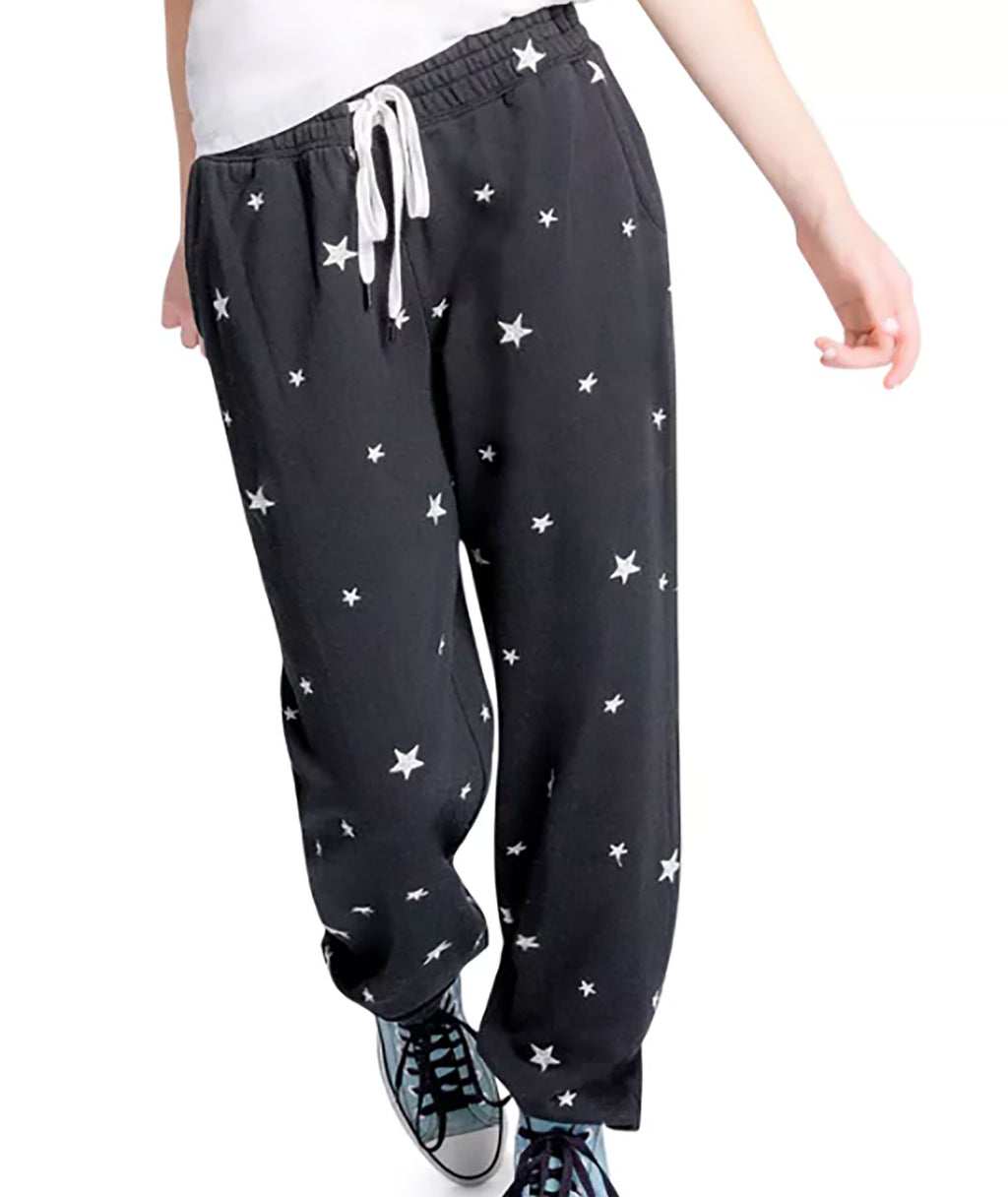 P.J. Salvage Women Black Star Bolt Sweatpants