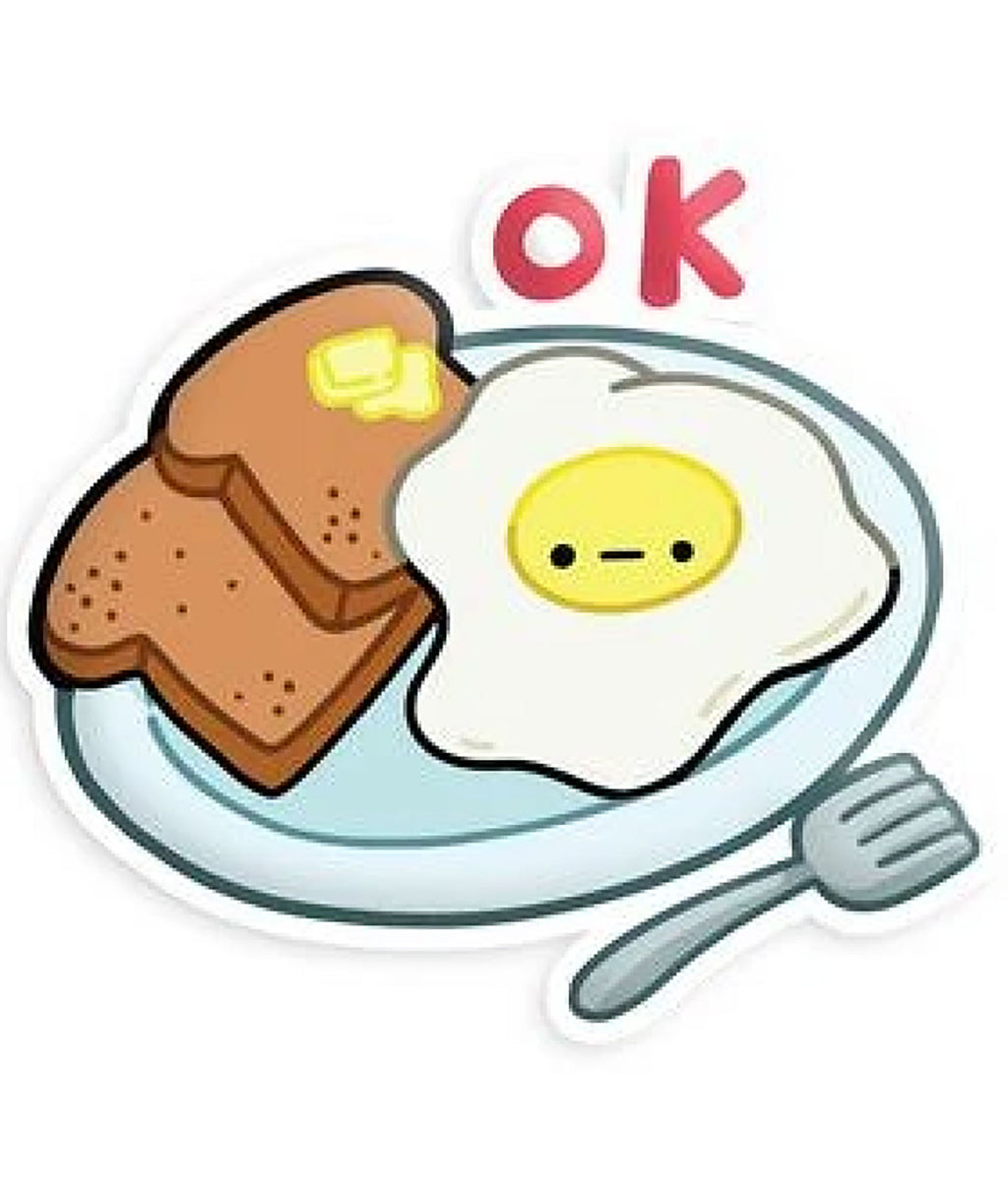 Squishable Vinyl Sticker Eggs and Toast