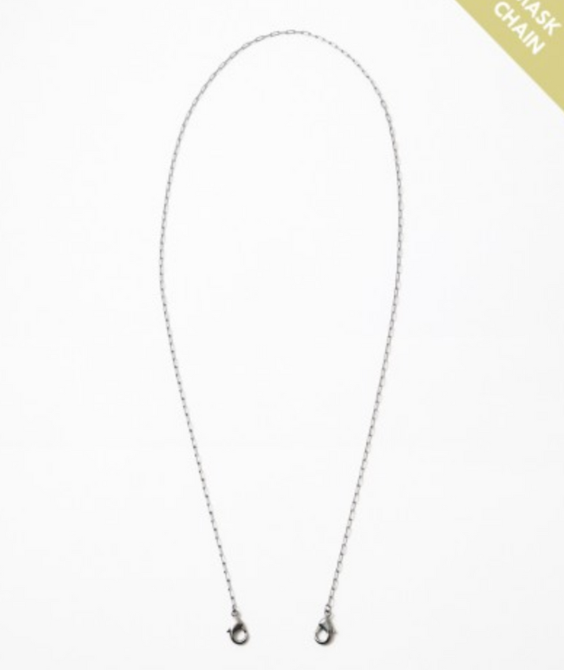 Fashionista J Gunmetal Thin Link Mask Chain