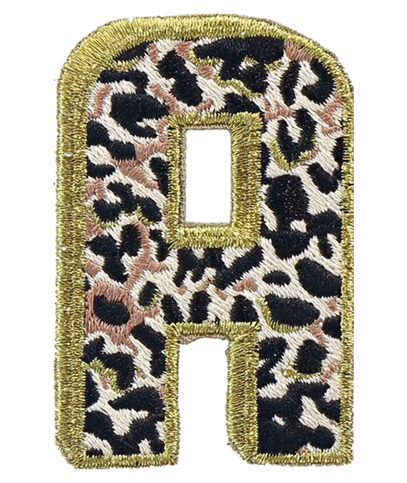 Stoney Clover Leopard Letter Patch