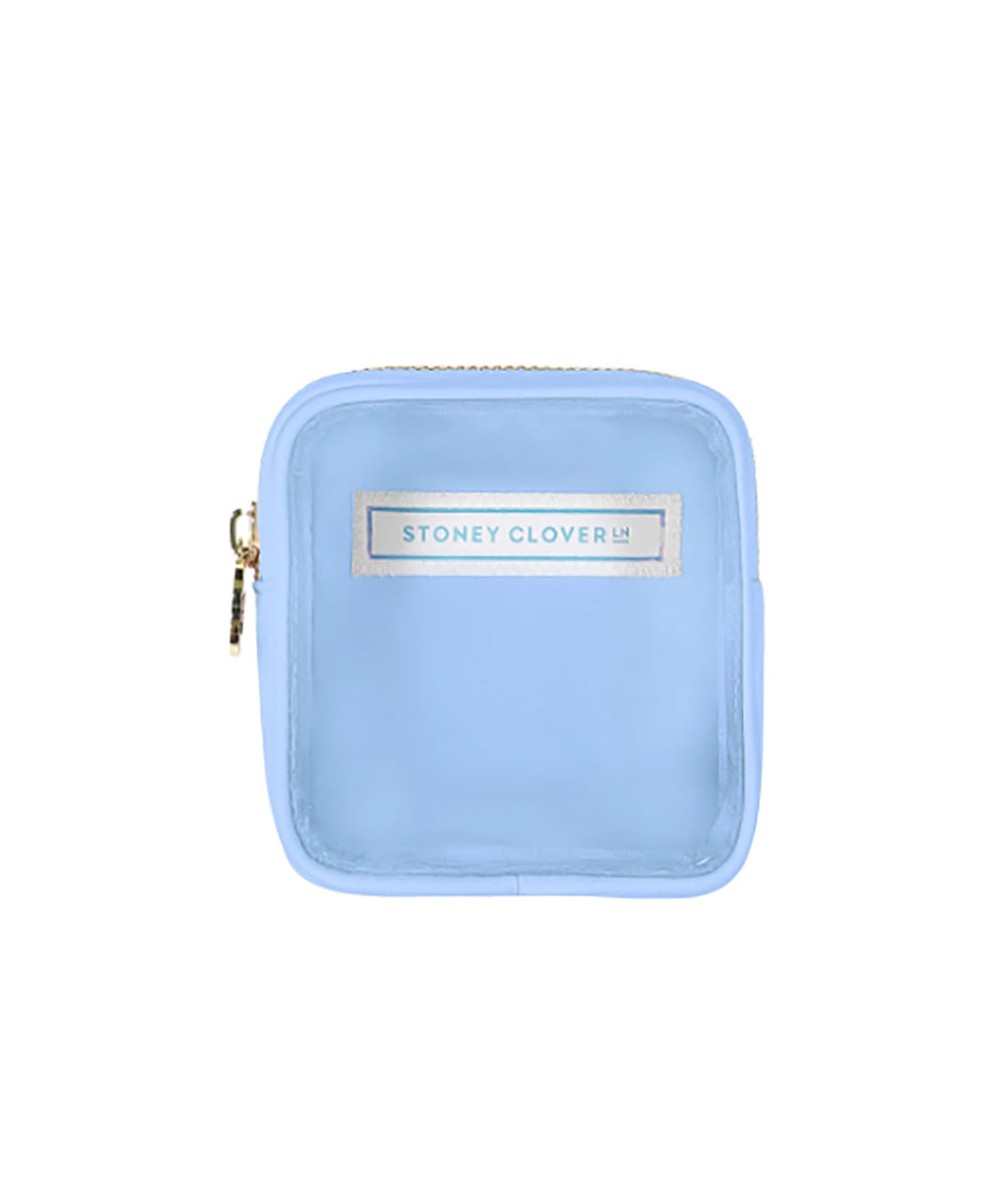 Stoney Clover Mini Periwinkle Clear Pouch