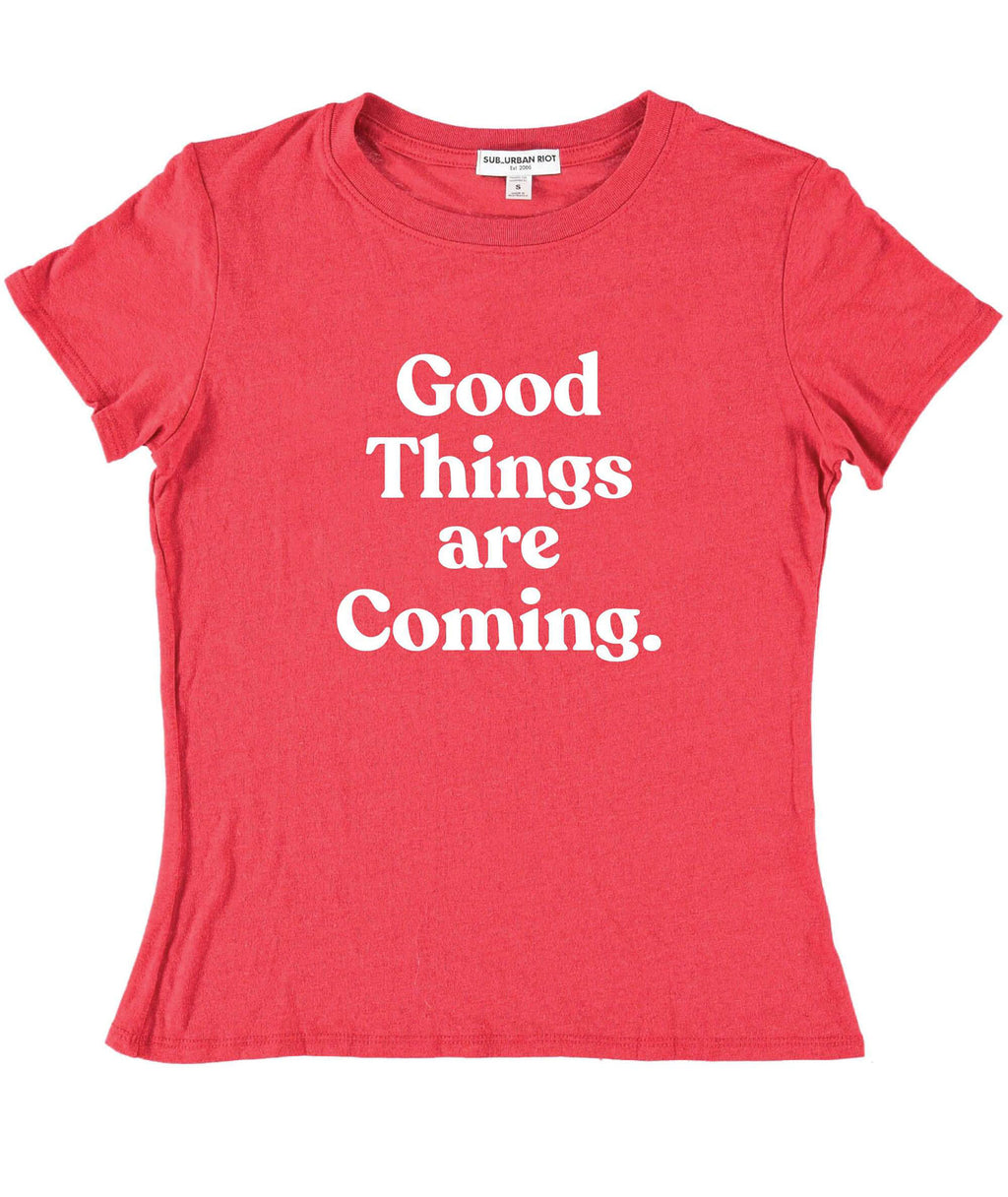 Sub_Urban Riot Girls Red Good Things Are Coming Tee