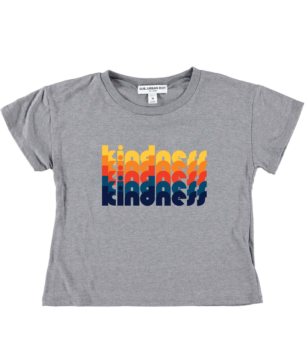 Sub_Urban Riot Girls Heather Grey Kindness Stack Tee