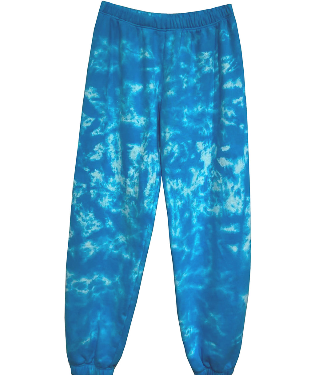 Me.n.u Girls Tie-Dye Blue Sweatpants