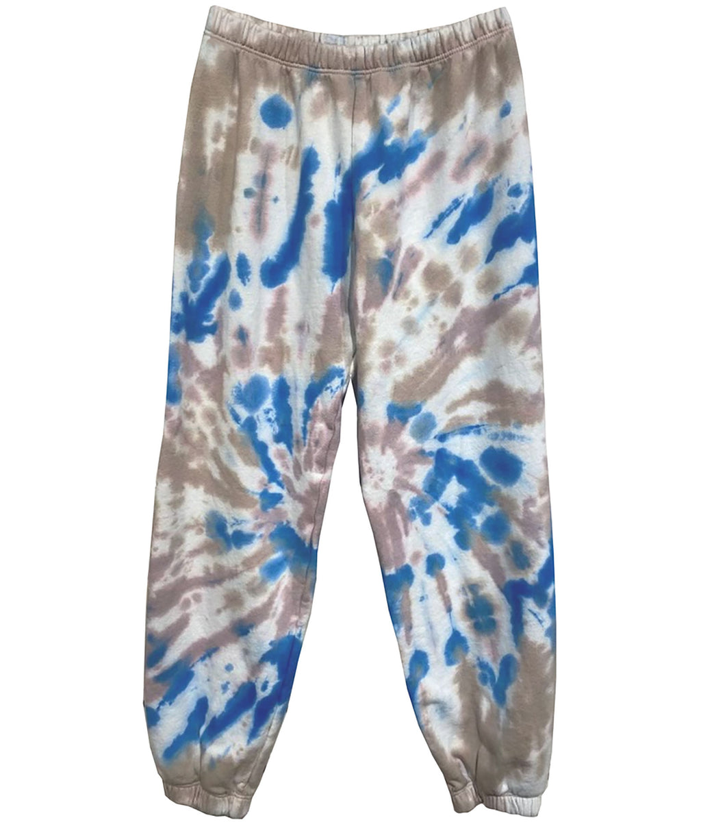 Me.n.u Girls Tie-Dye Natural & Blue Sweatpants