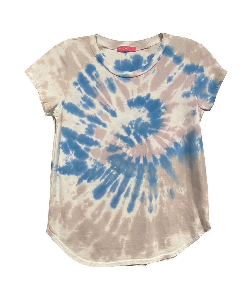 Me.n.u Girls Tie-Dye Natural & Blue Tee