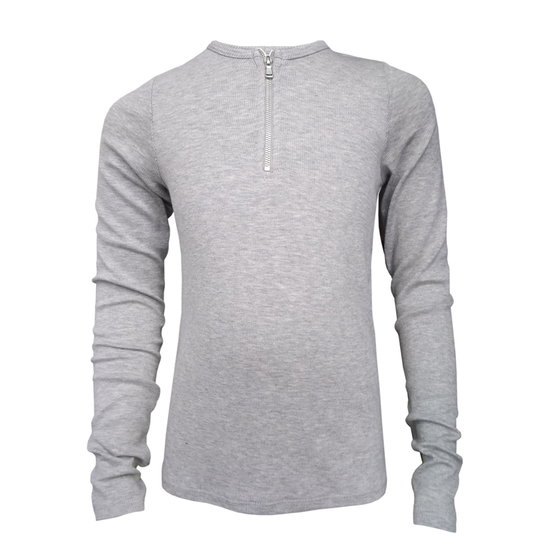 Me.n.u Girls Grey Zip Top