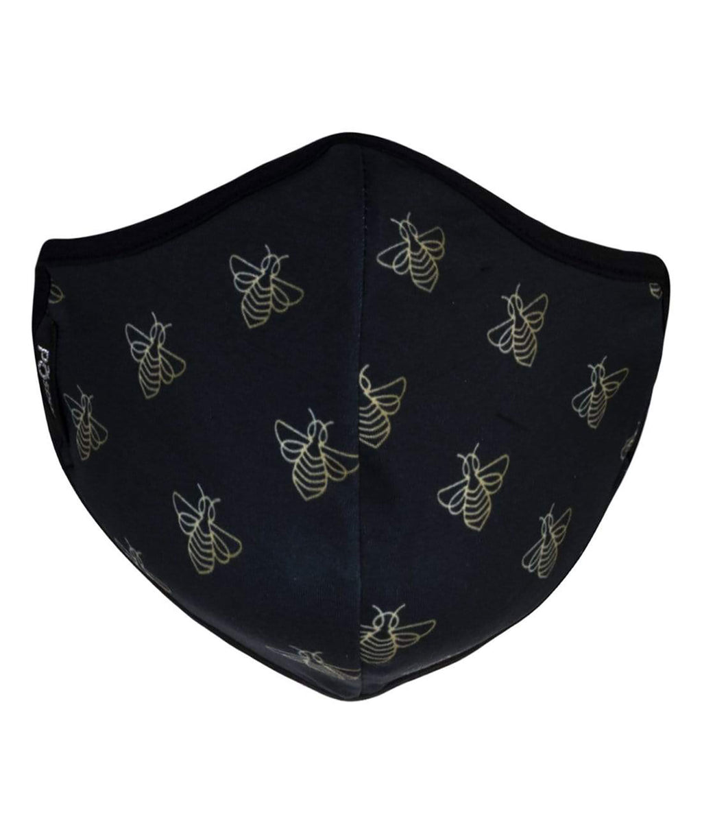 masQd Adults Mask With Filter Pocket Bee