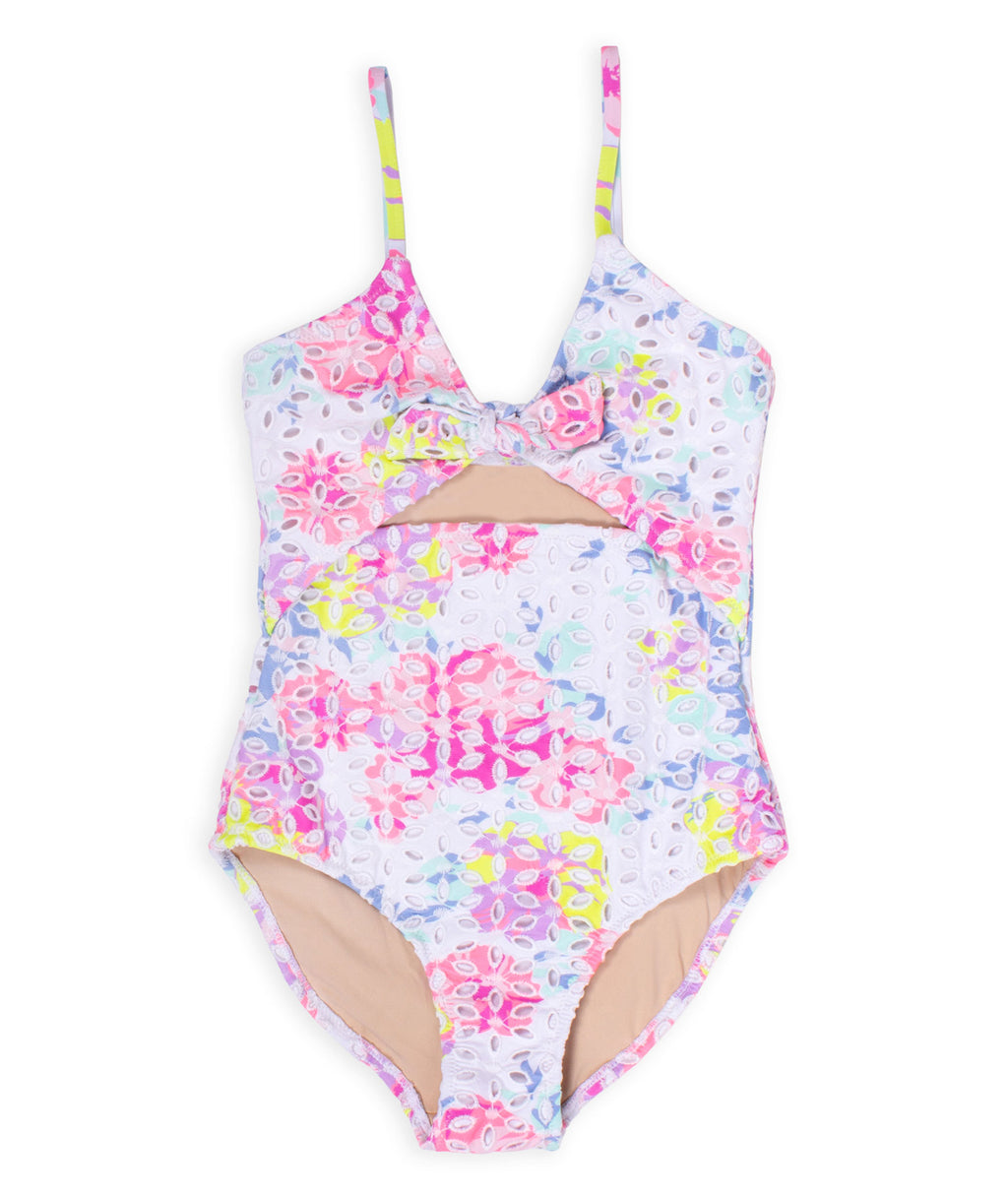 Shade Critters Girls Monokini Floral Eyelet