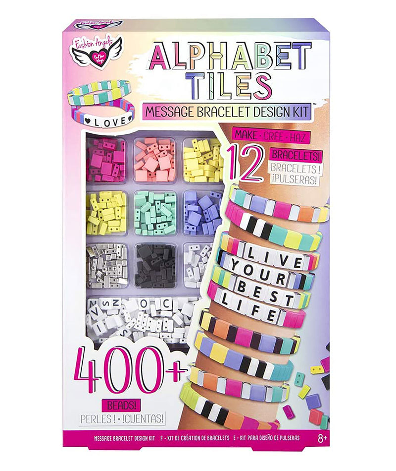 Fashion Angels Alphabet Tiles Message Bracelet Design Kit