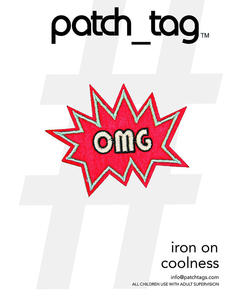 Me.n.u. OMG Iron on Patch Tag