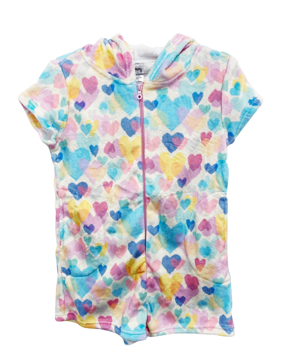 iScream Girls Pastel Hearts Plush Romper