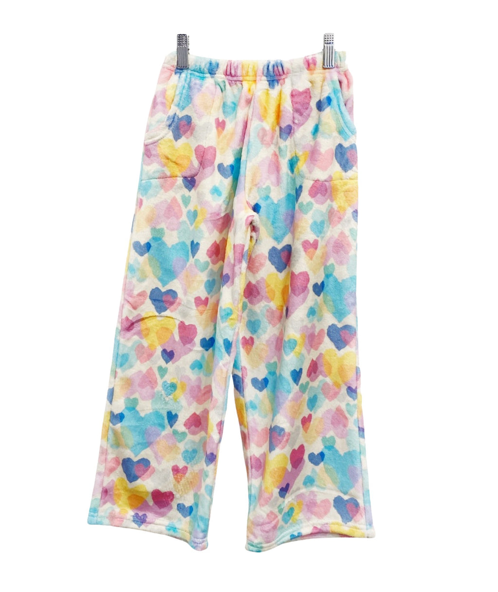 iScream Girls Pastel Hearts Plush Pants
