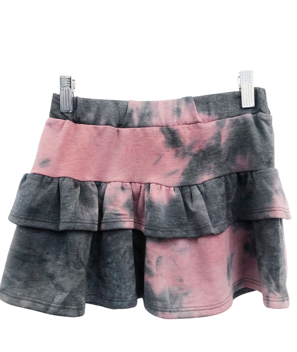 Sparkle by Stoopher Girls Pink/Black Tie Dye Skirt