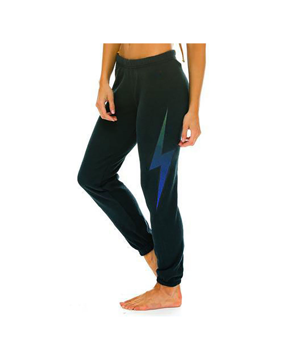 Aviator Nation Women Charcoal Bolt Sweatpants