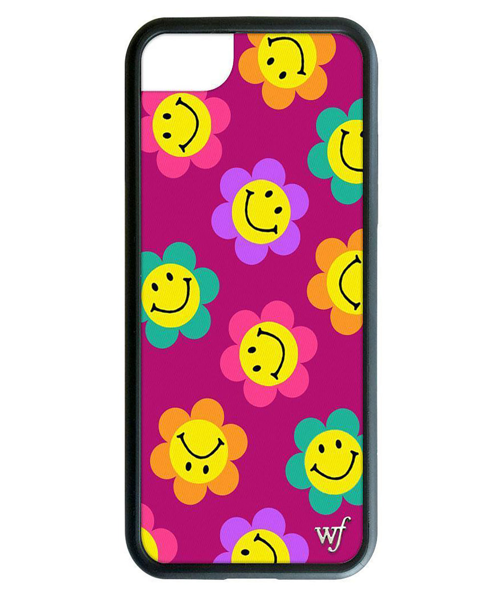 Wildflower Phone Case Magenta Smiles
