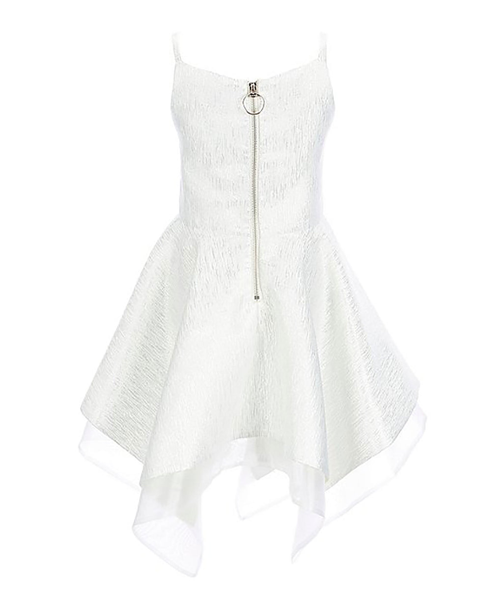 Zoe Ltd. Girls Silver Handkerchief Dress