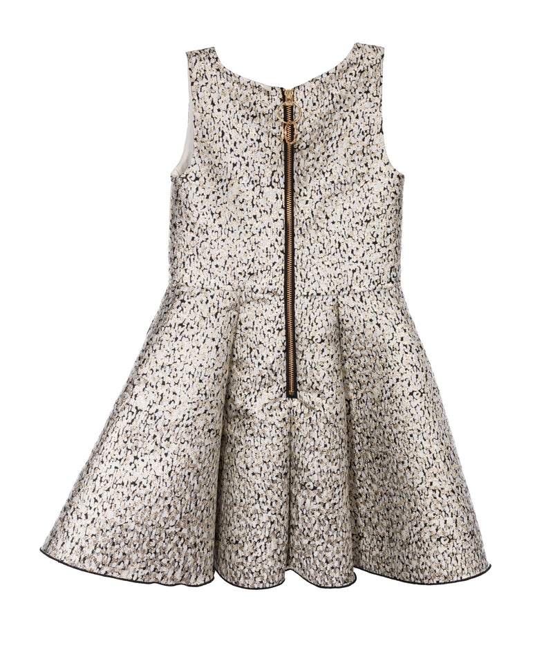 Zoe Ltd. Girls Margo Gold Brocade Dress