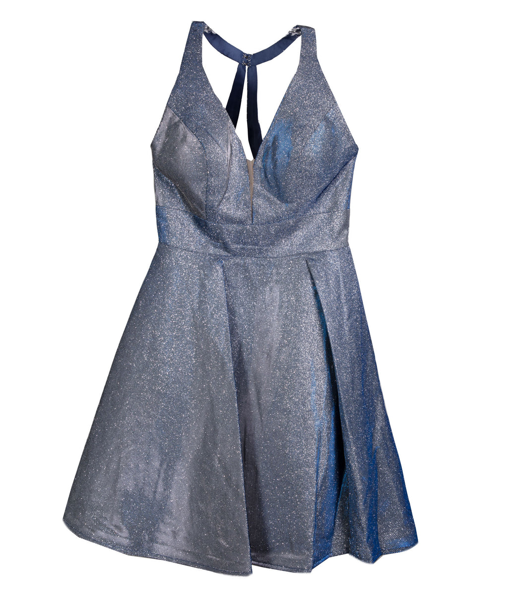 Alyce Women Starry Blue Shimmer Dress