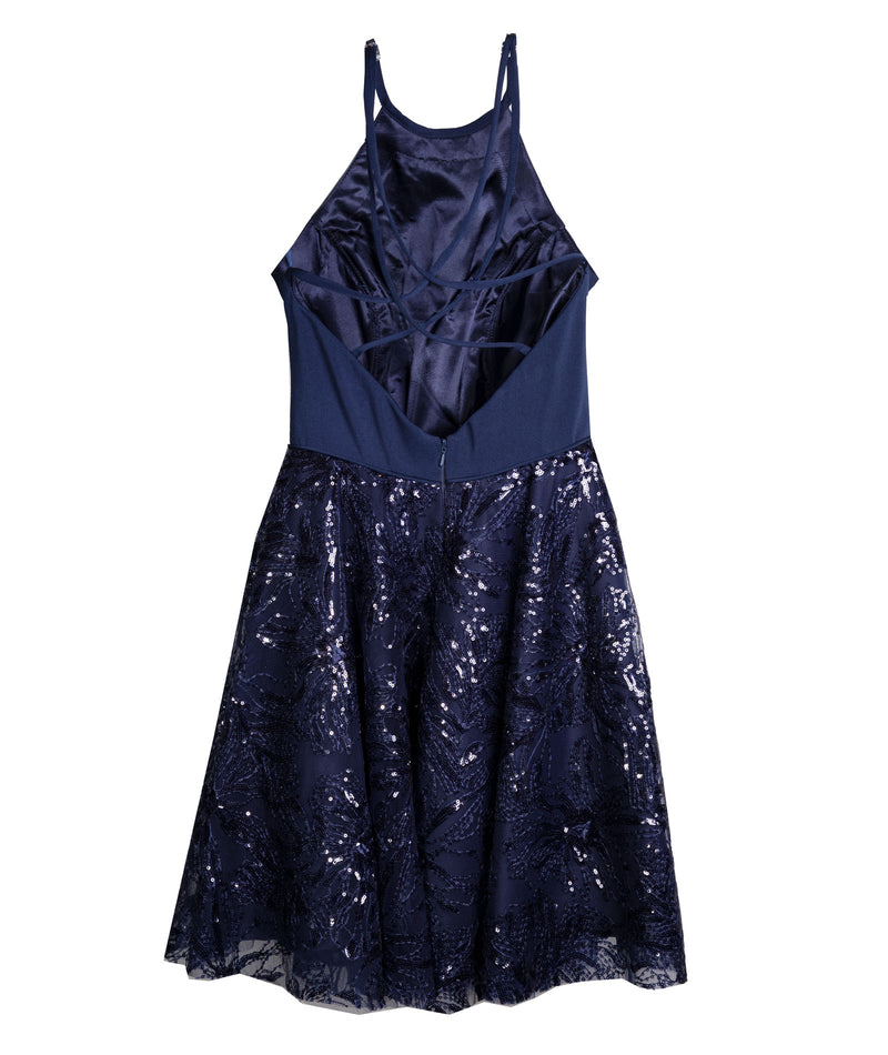 Alyce Women Navy Diamond Dress
