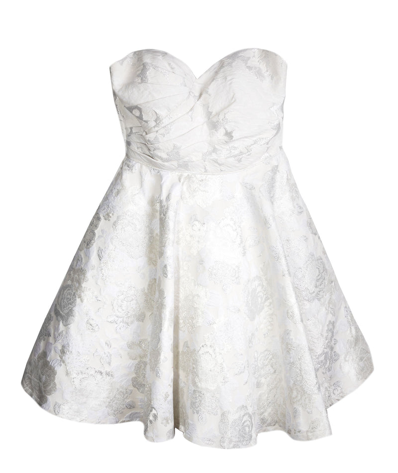 Alyce Women White and Gold Tulle Dress