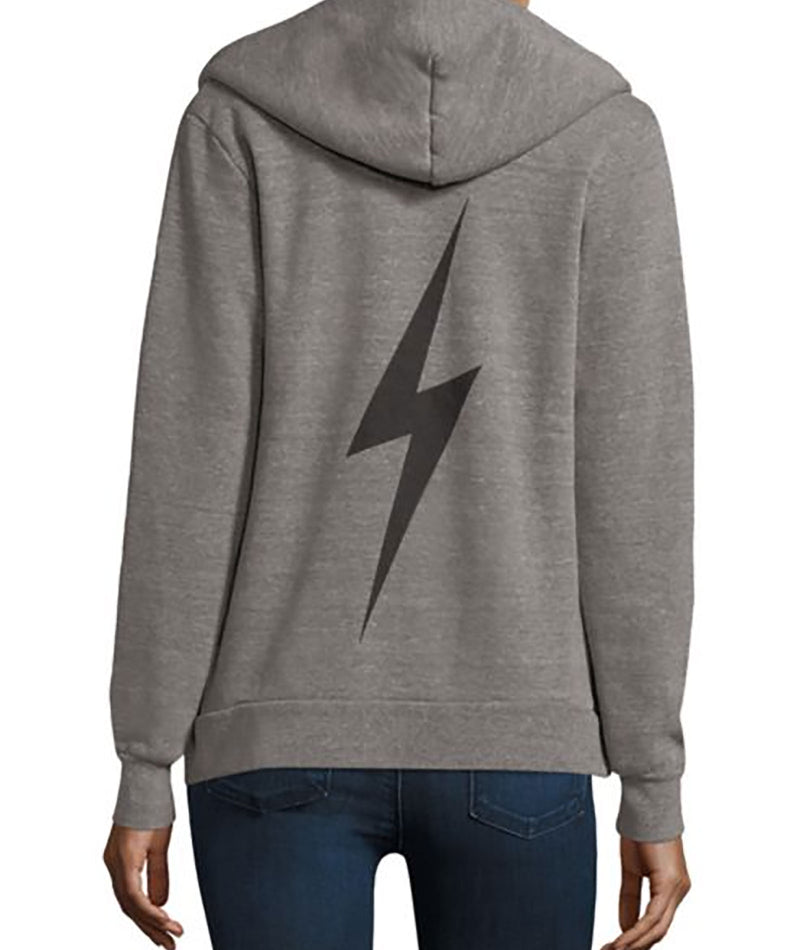 Aviator Nation Women Bolt Heather Grey Hoodie