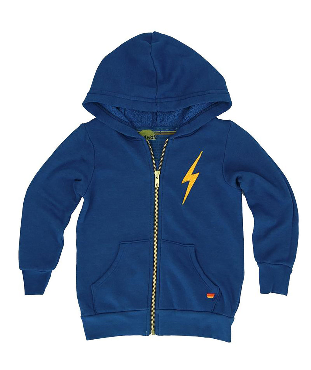 Aviator Nation Girls Royal Blue Bolt Sweatshirt