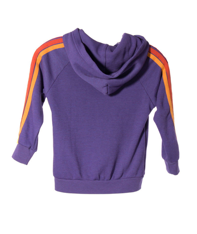 Aviator Nation Girls Stripe Purple Zip Hoodie