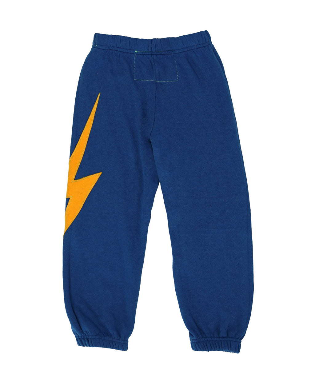Aviator Nation Girls Blue Bolt Sweatpants