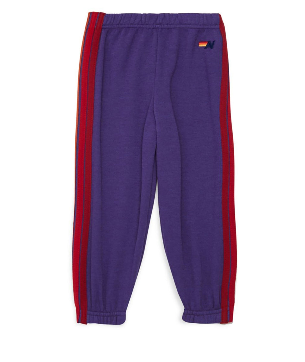 Aviator Nation Girls Purple Stripe Sweatpants