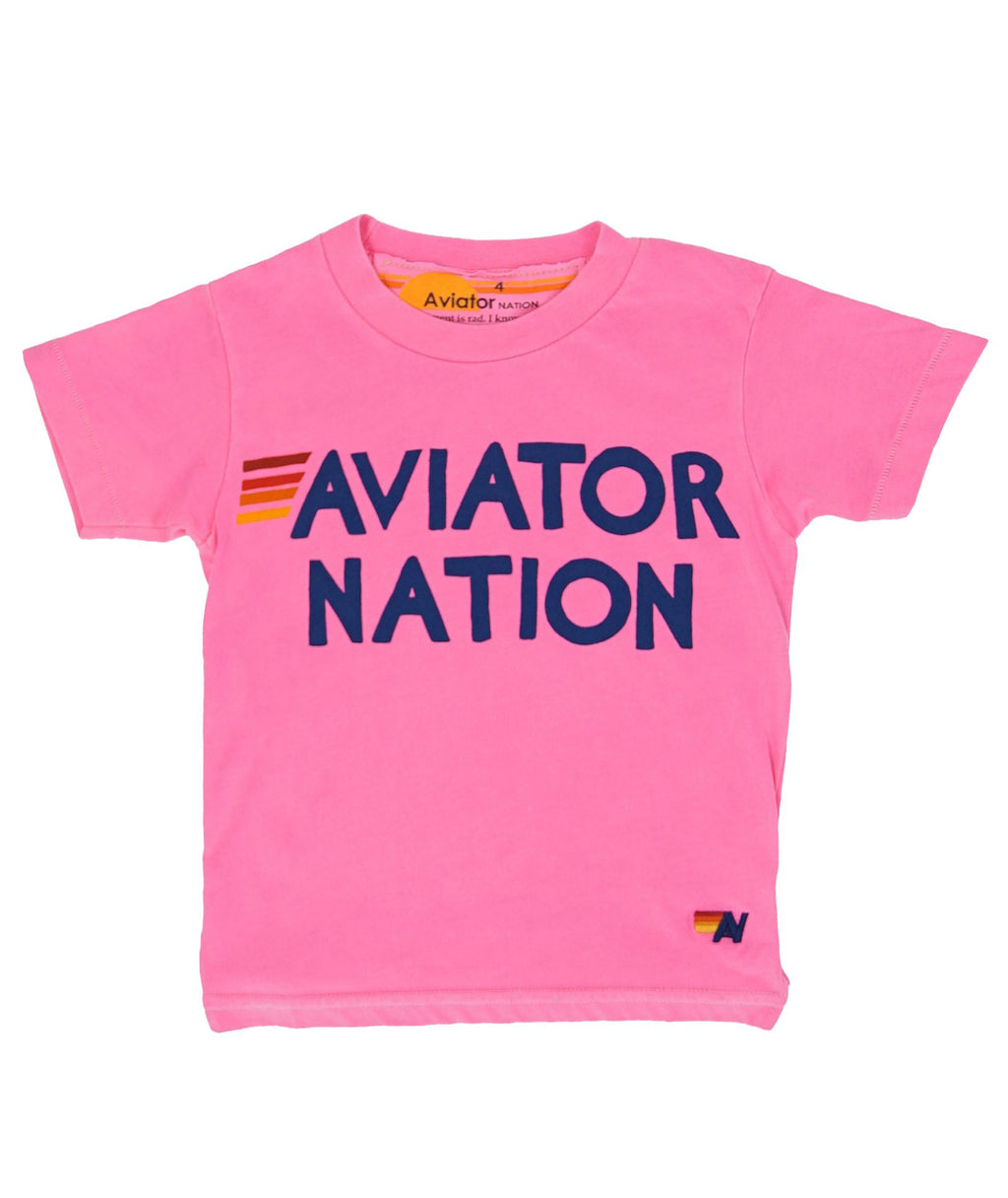 Aviator Nation Girls Hot Pink Graphic Tee - Frankie's on the Park