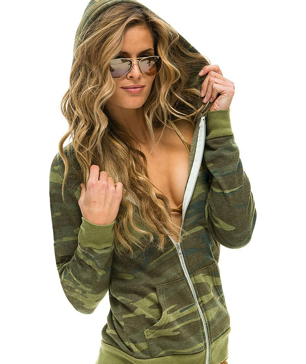 Aviator Nation Women Camo Bolt Hoodie