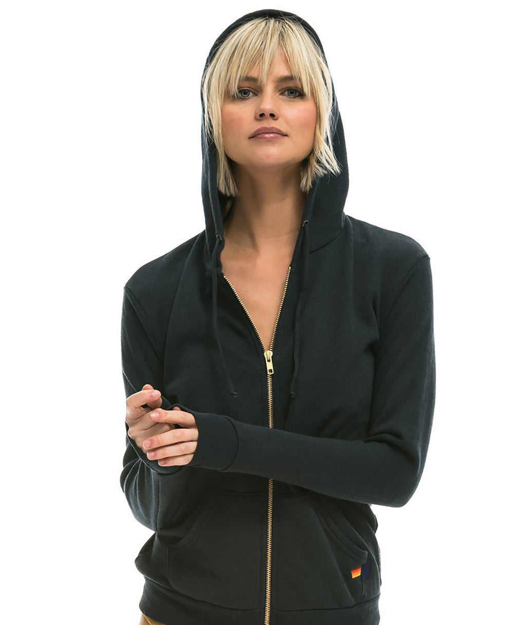 Aviator Nation Women Metallic Bolt Hoodie