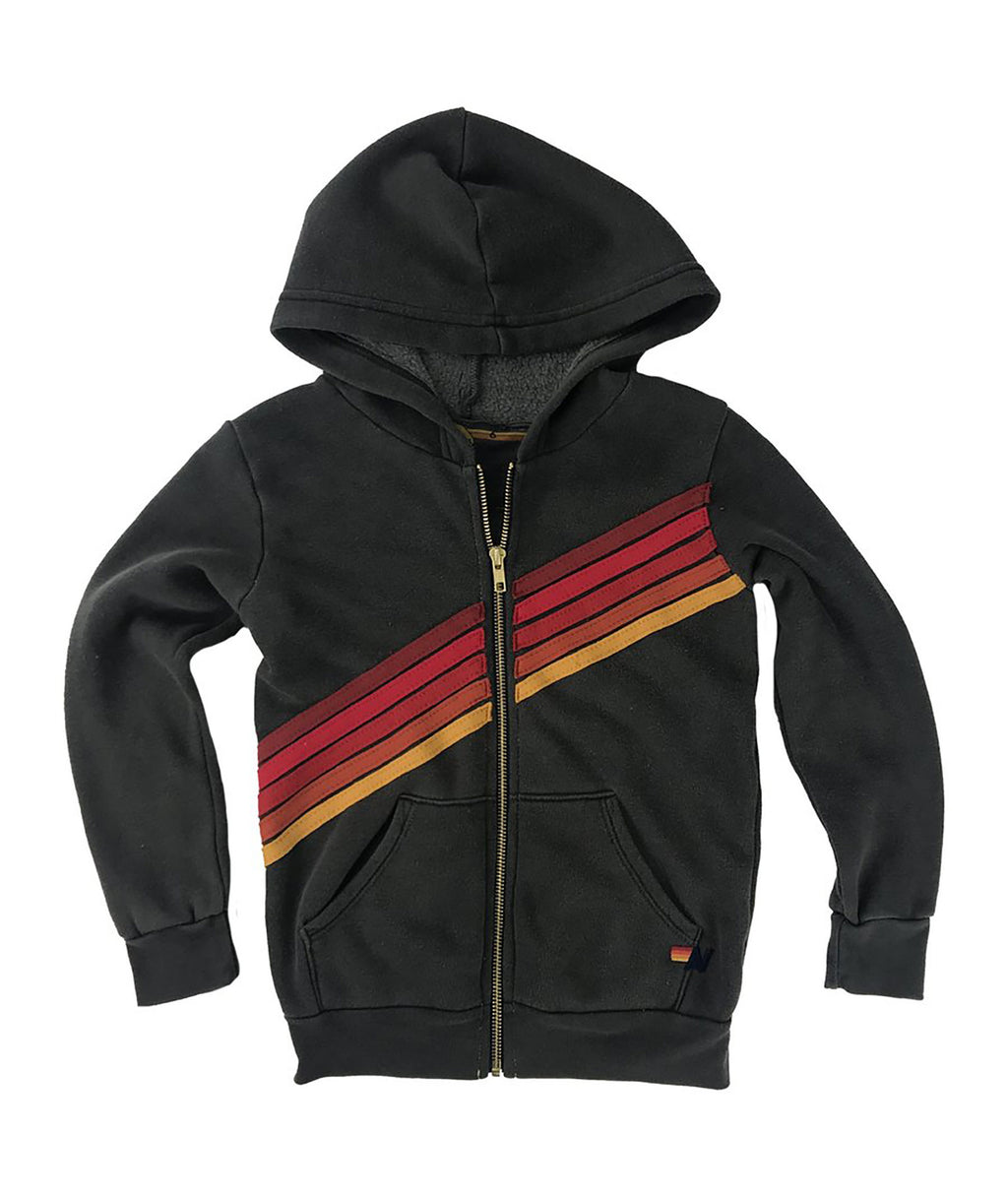 Aviator Nation Girls 5 Stripe Disco Stitch Hoodie