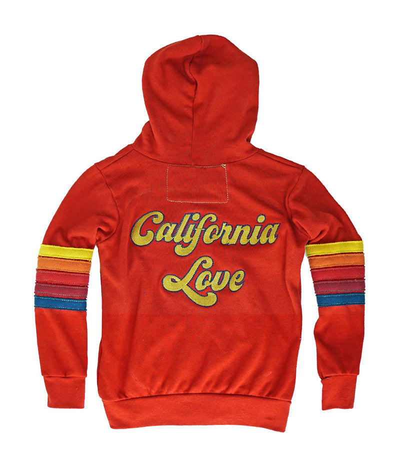 Aviator Nation Girls Cherry Cali Zip Hoodie