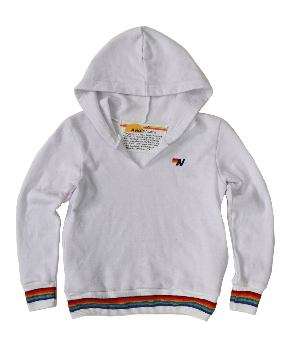 Aviator Nation Girls Prism Hoodie White