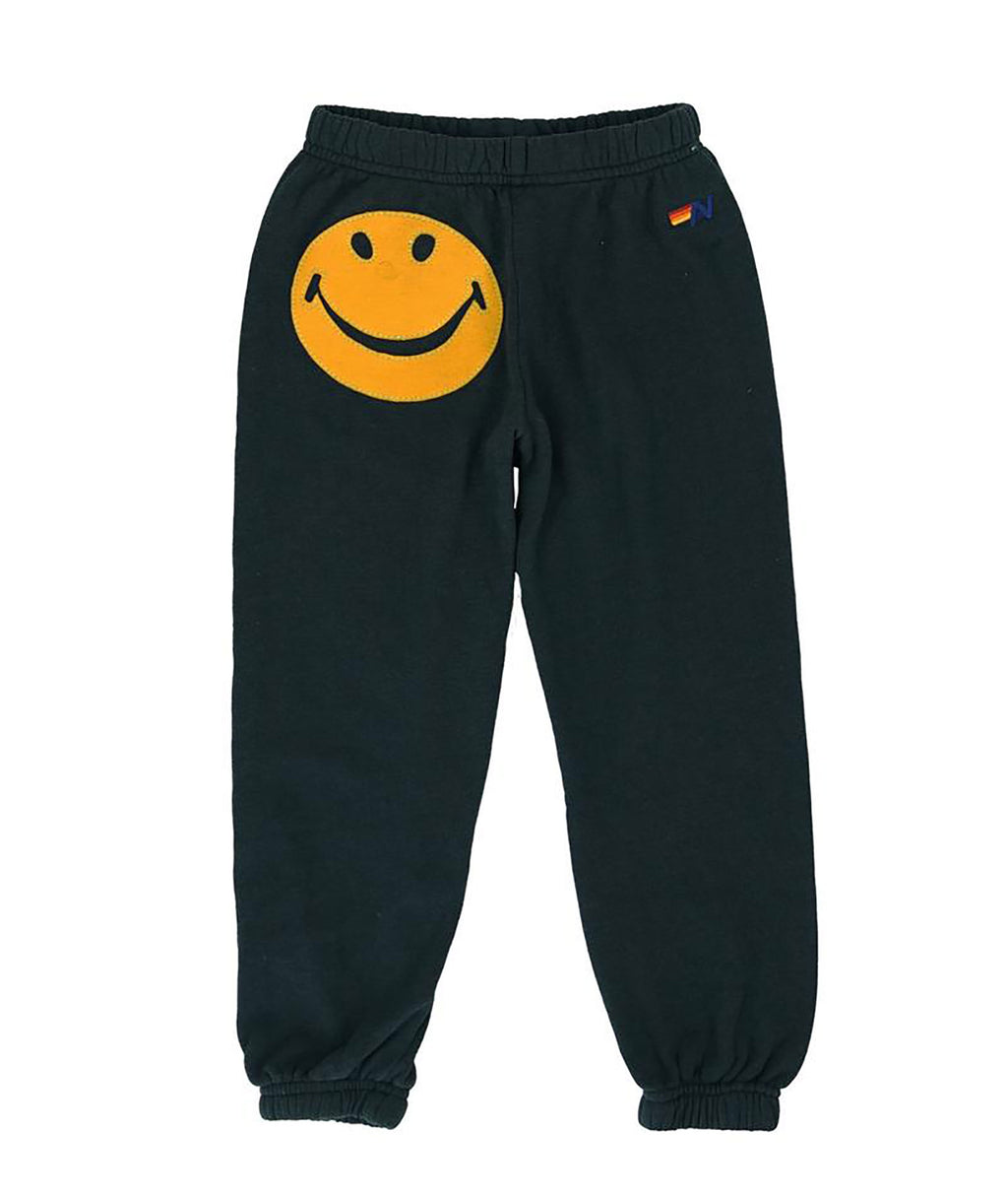 Aviator Nation Girls Charcoal Smile Sweatpants