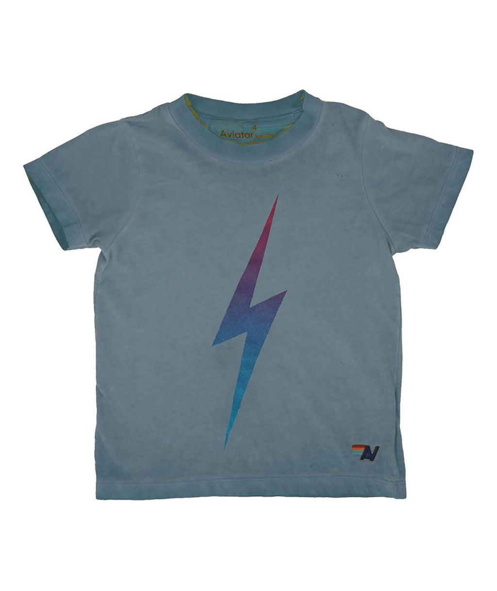 Aviator Nation Girls Bolt Slate Tee