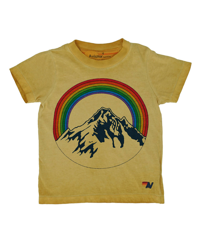 Aviator Nation Girls Gold Mountain Tee