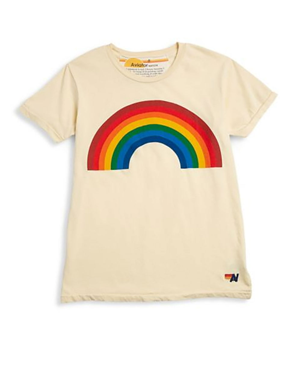 Aviator Nation Girls Rainbow Tee