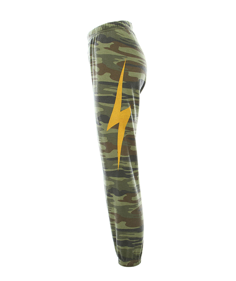 Aviator Nation Women Camo Bolt Sweatpants