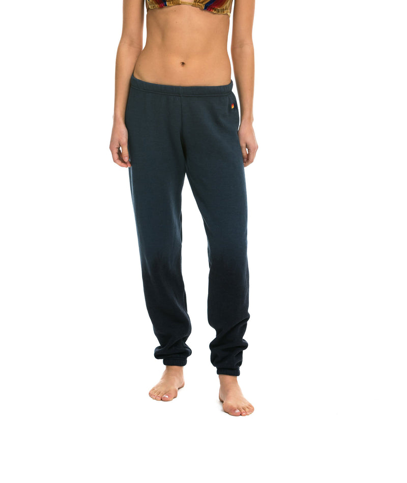 Aviator Nation Girls 5 Stripe Grey Sweatpants