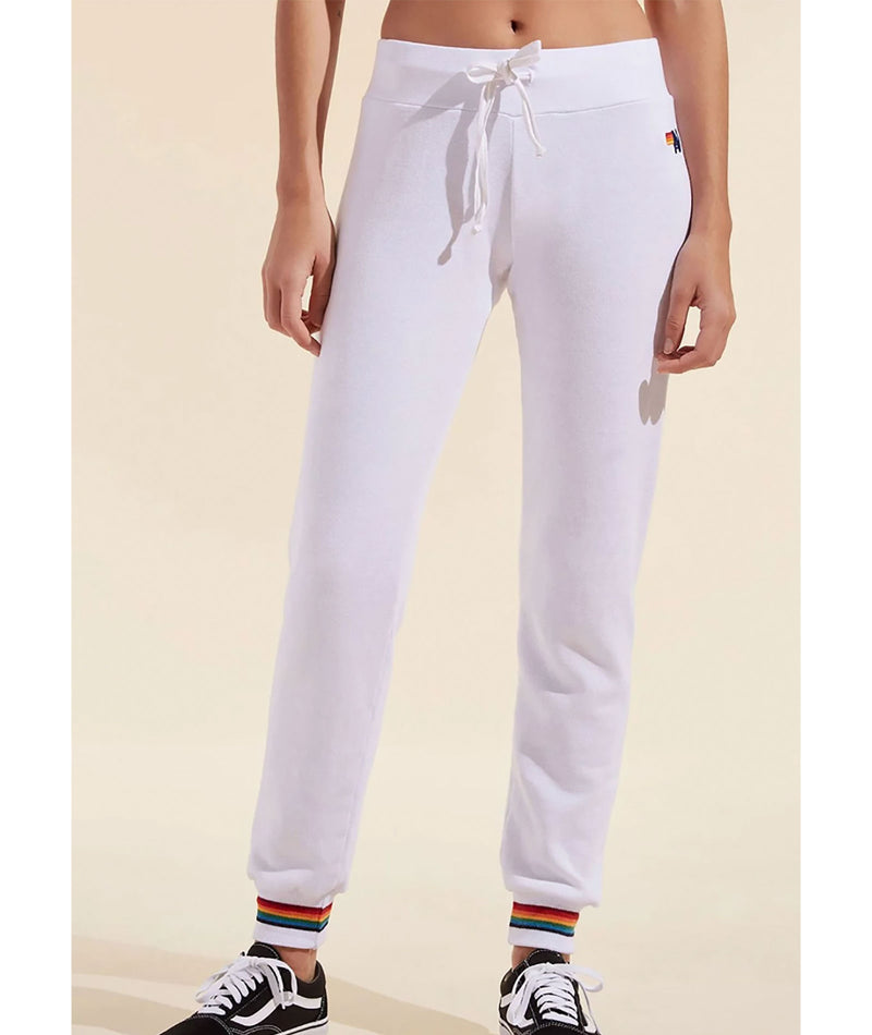Aviator Nation Women White Prism Sweatpants