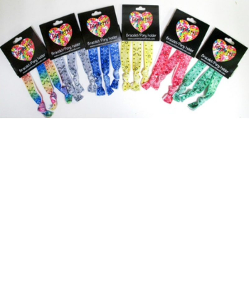 Confetti and Friends Bandana Hair Ties | Frankie's on the Park