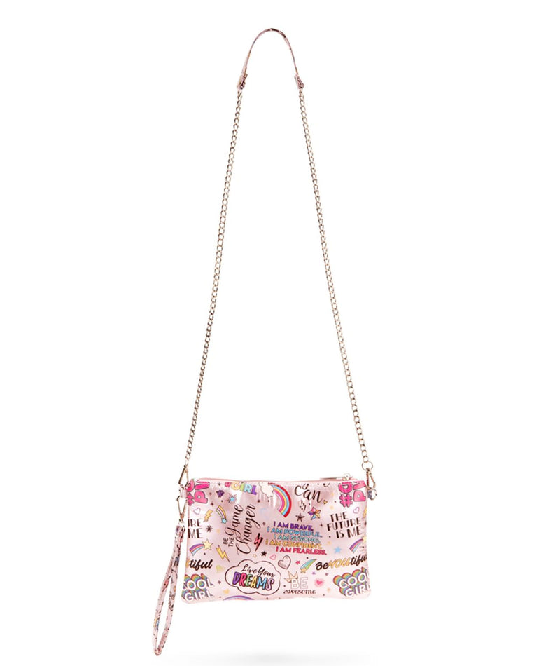 Bari Lynn Pink Girl Power Clutch