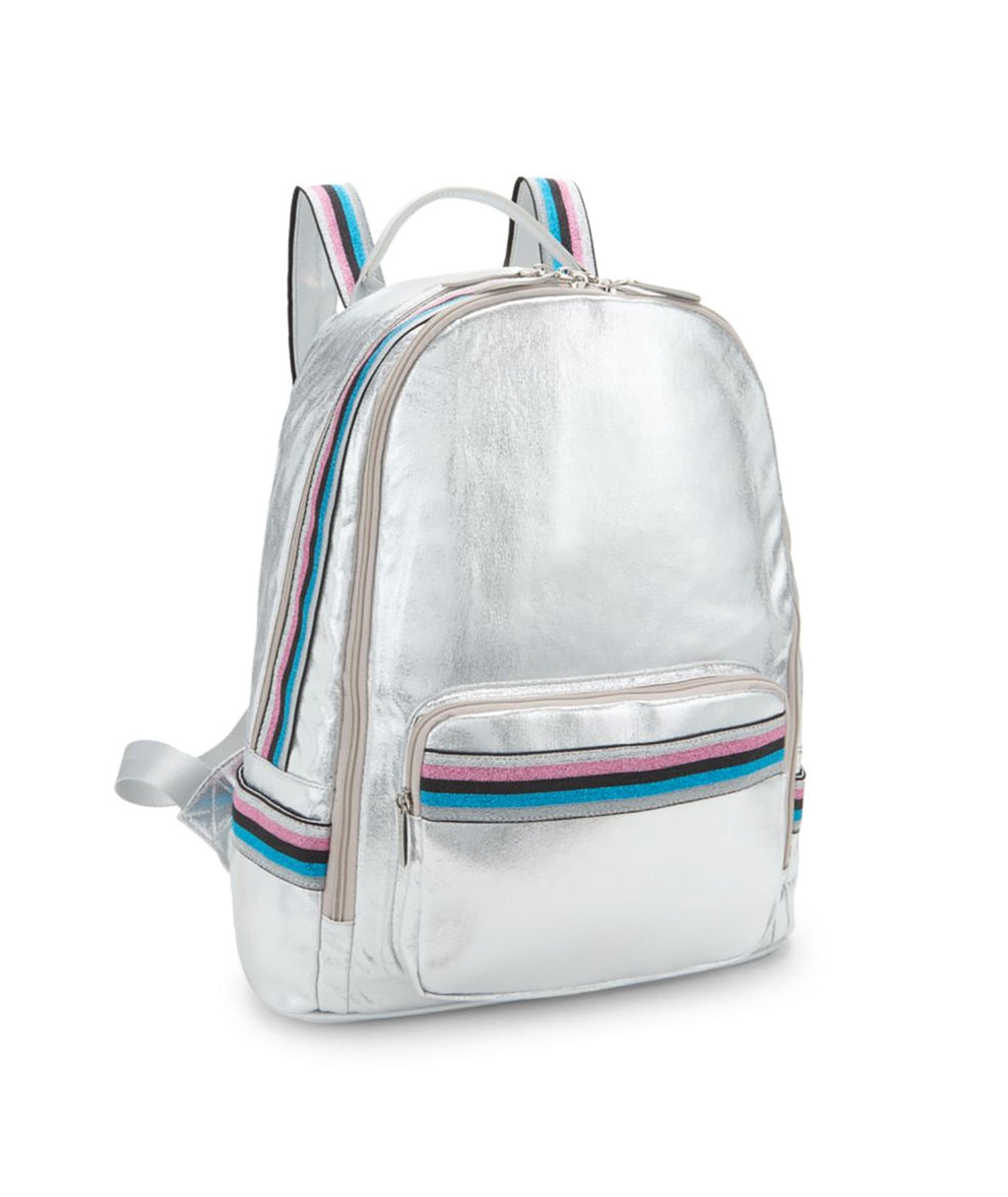 Bari Lynn Silver Metallic Galaxy Backpack