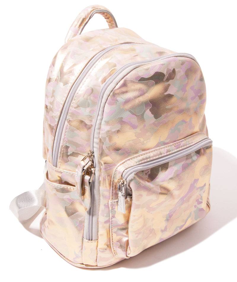 Bari Lynn Camo Gold Mini Backpack