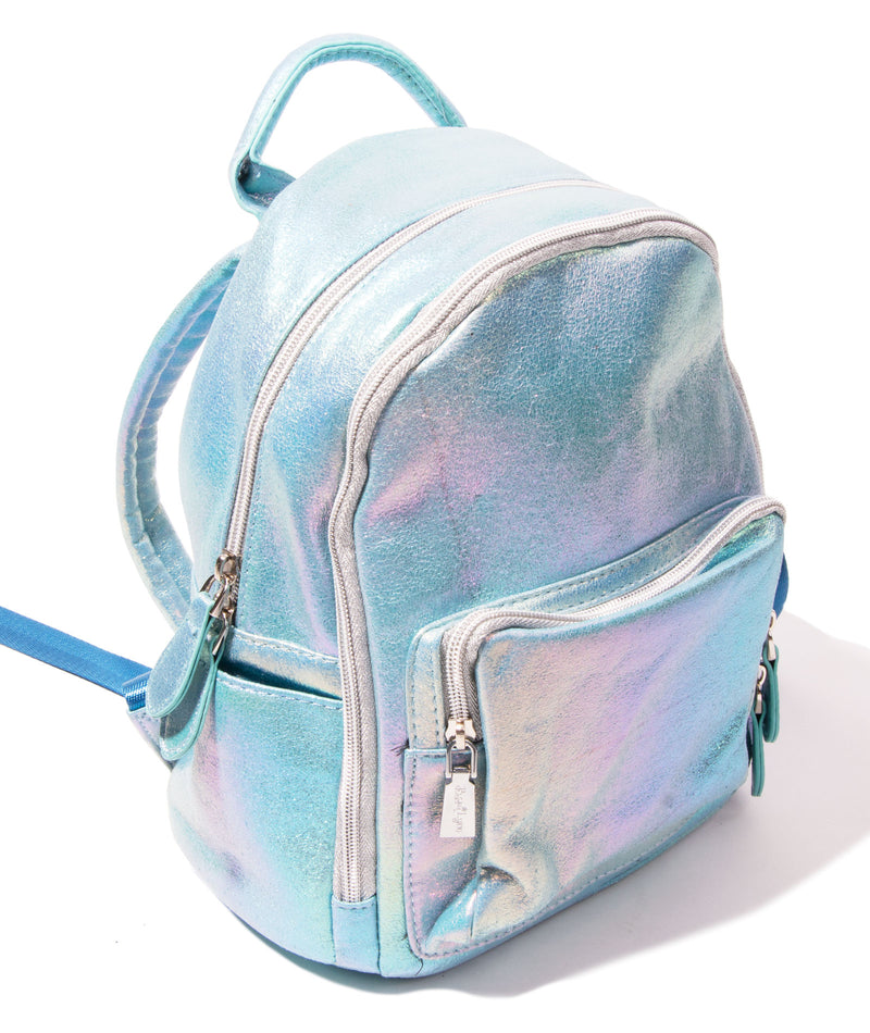 Bari Lynn Mini Sparkle Blue Backpack