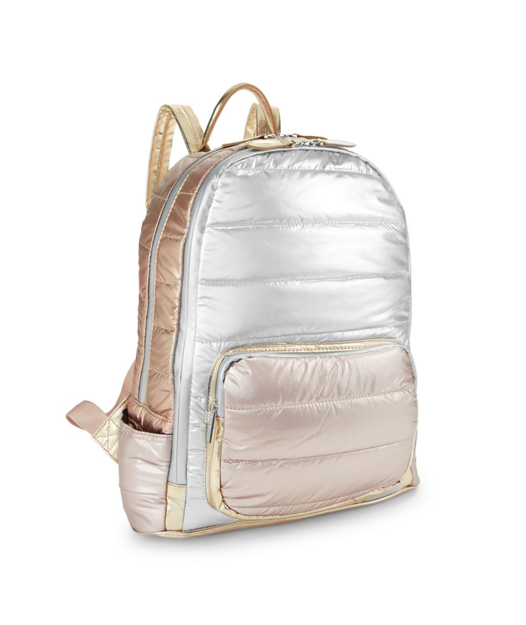 Bari Lynn Metallic Tricolor Backpack