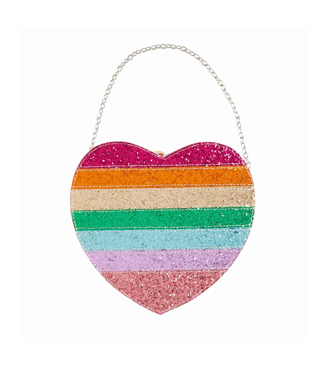 Bari Lynn Rainbow 3D Heart Bag